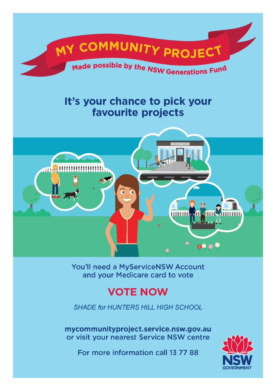 My Community Project 2019 - Please VOTE for Hunters Hill High School