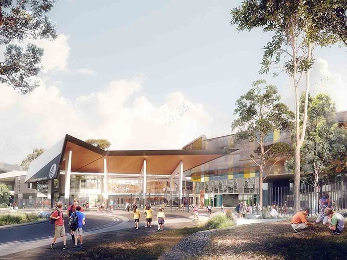 Artist impression of the new Alexandria Park Community School.